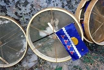 Tlicho Flag & Drums