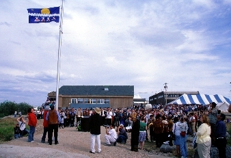 Tlicho Flag Raising